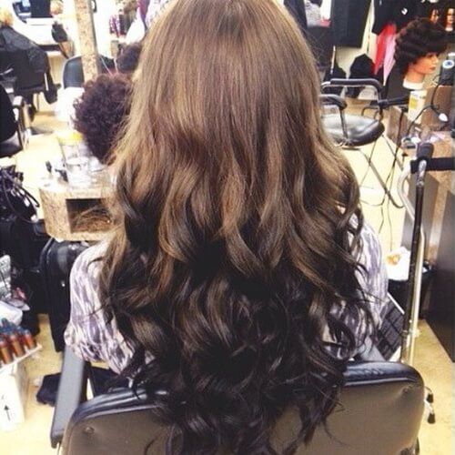 Reverse Chocolate Brown Ombre
