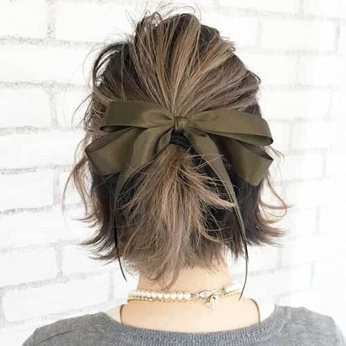 Ribbon Updos for Short Hair