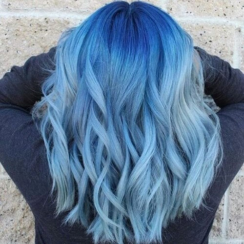Shades of Blue Hairstyle