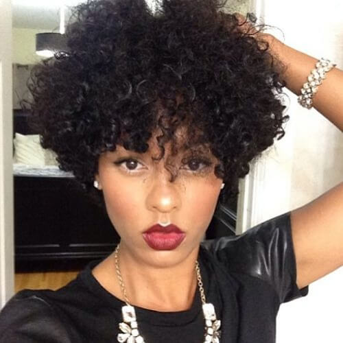 Short Curly Sew in Weave Hairstyles