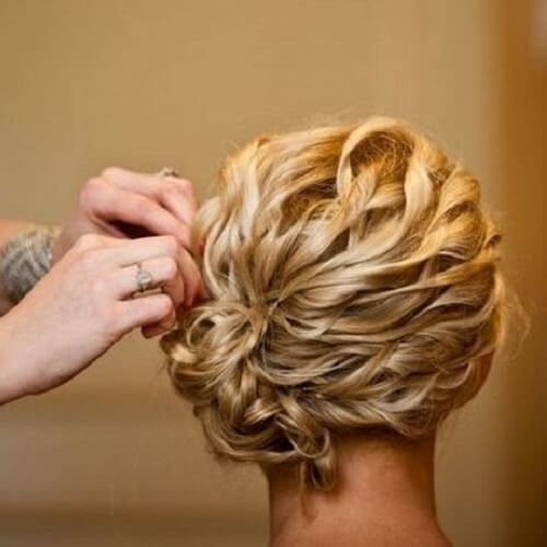 Side Chignon Updos for Short Hair