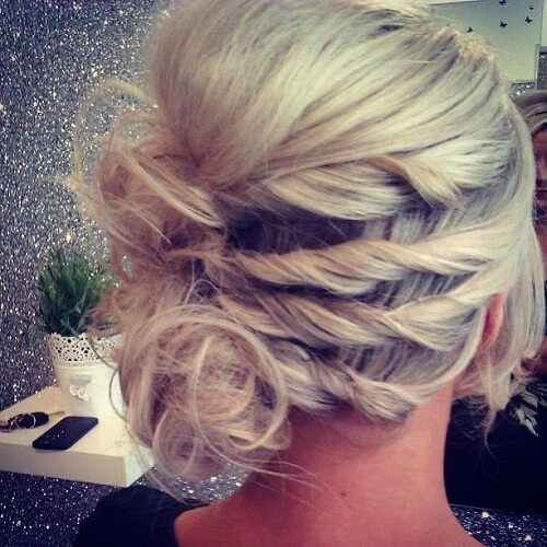Side Twisted Updos for Short Hair