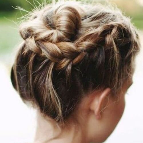 Spiral Braid Updos for Short Hair