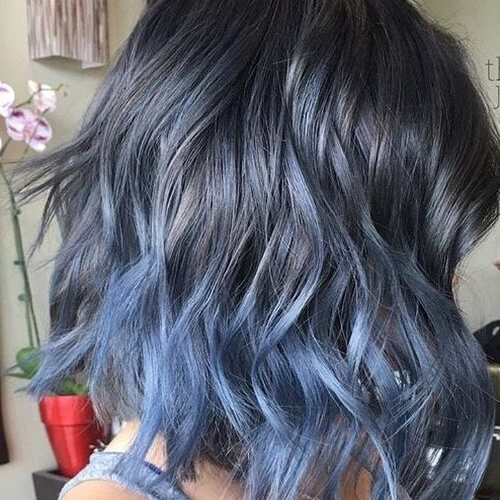 Steel Blue Ombre Hair