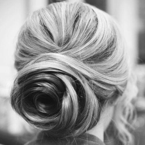 Swirled Rose Bun