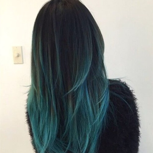 Teal Ombre Hairstyle
