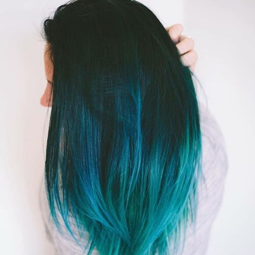 black and turquoise ombre hair wwwimgkidcom the