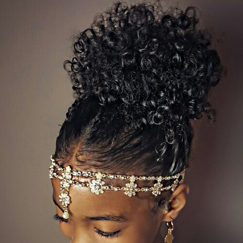 Afro Bridesmaids Hairstyles