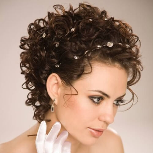 Bridal Hairstyles for Short Hair and Round Faces