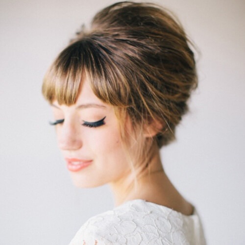 Bridesmaid Hairstyles with Fringe