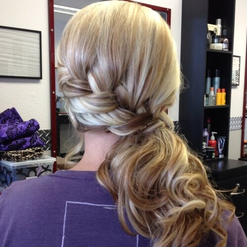 Bridesmaids Side Ponytail Hairstyles