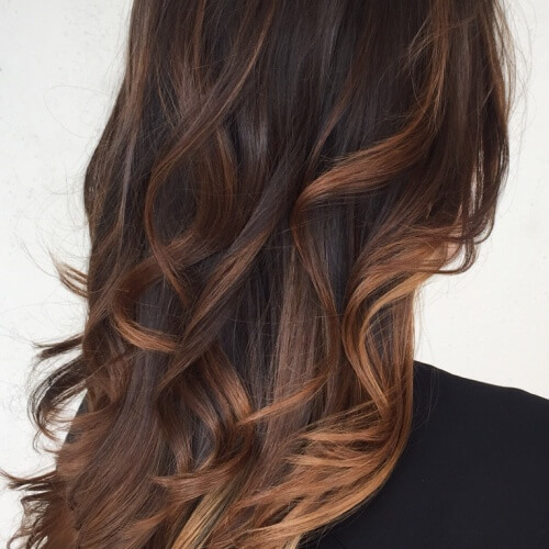Deep Rose Gold With Caramel Lowlights Beauty Pinterest ...