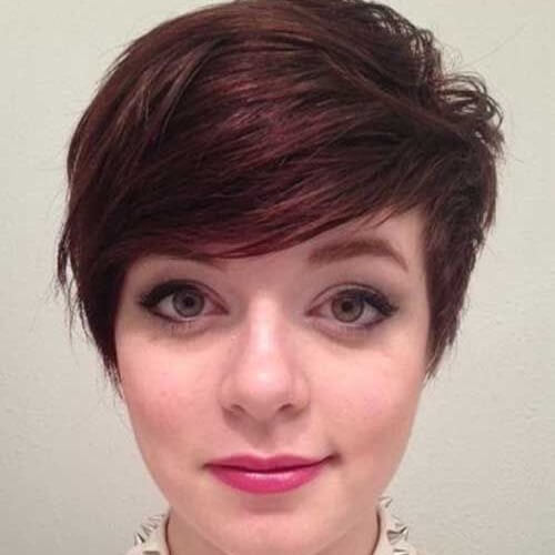 Full Side Bangs Pixie Haircuts