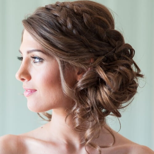Hairstyles for Strapless Bridesmaid Dresses