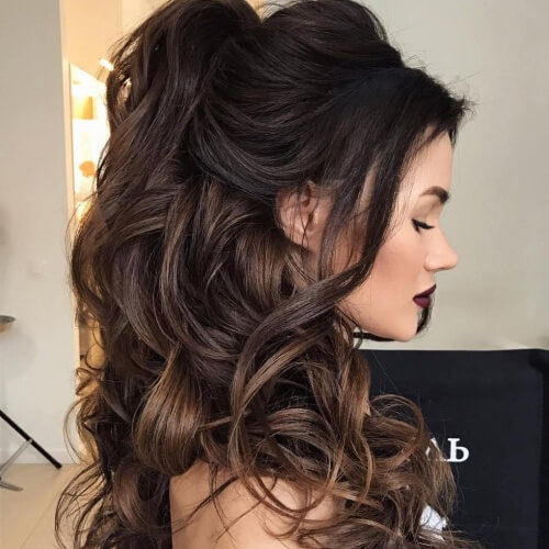 Half Up Hairstyles for Thick Hair