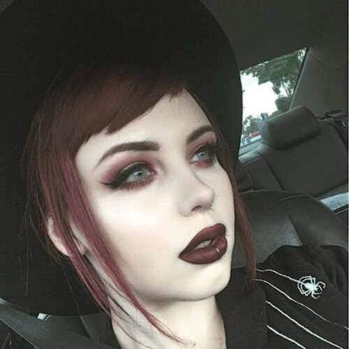 Hat Hairstyles for Emo Girls