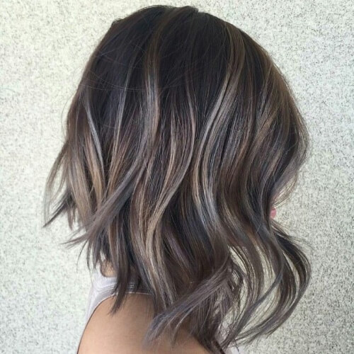 Highlights For Greying Brown Hair Hairs Picture Gallery