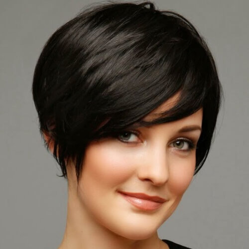 Short layered black haircuts 2018