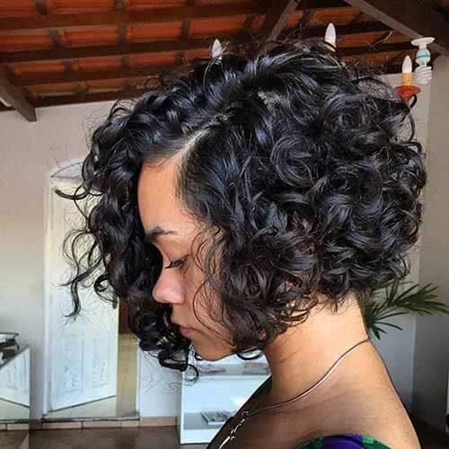 Short Black Haircuts for Round Faces