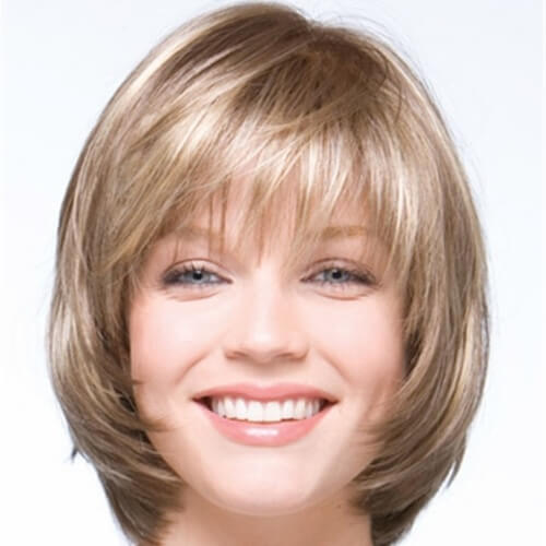 Short Haircuts with Bangs for Round Faces