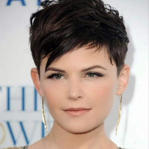 Super Short Haircuts for Round Faces