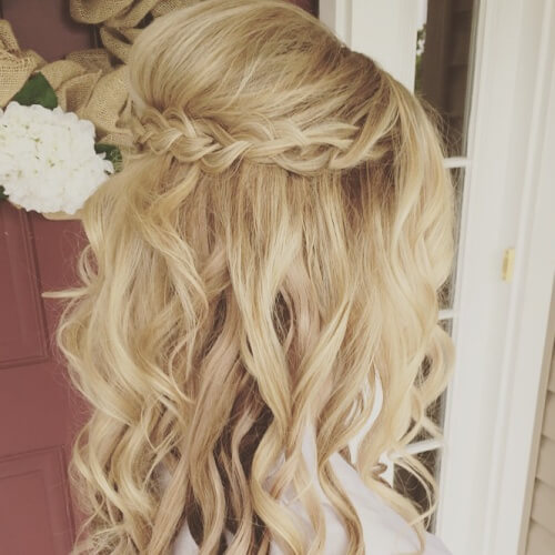 Tiara Braid Hairstyles for Bridesmaids
