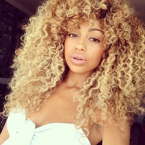 Afro Curls in Blonde