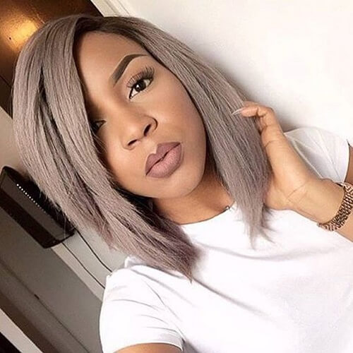 Ashy Bob Hairstyles for Black Women