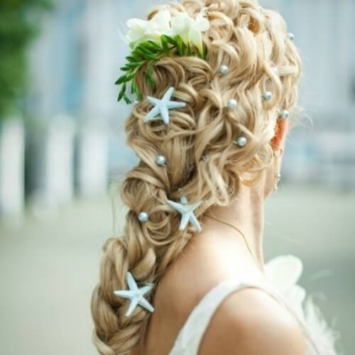 Beach Wedding Updos