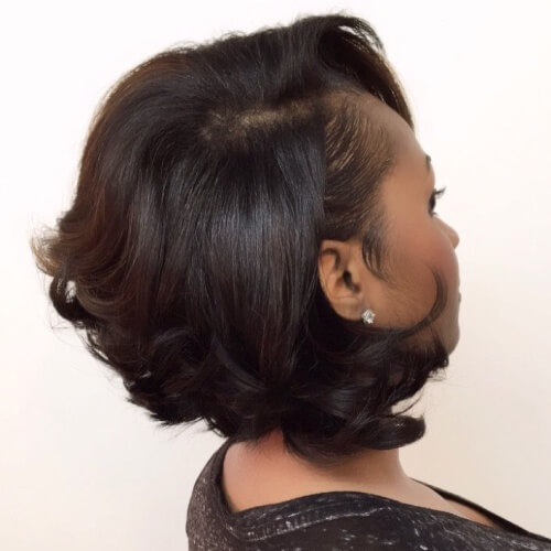 Black Layered Bob Hairstyles with Curled Tips