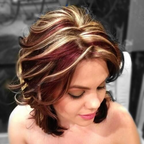 Blonde and Burgundy Hairstyles