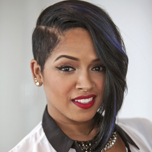 Bob Hairstyles for Black Women with Shaved Side