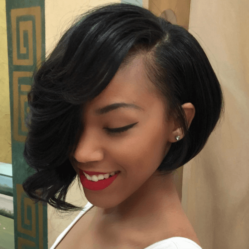 Bridal Bob Hairstyles for Black Women