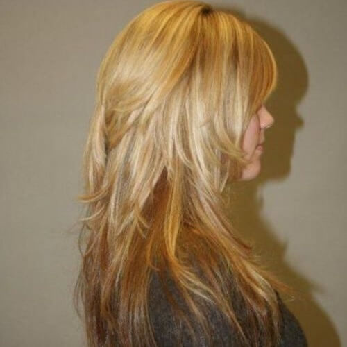 Long Layered Shag Haircuts