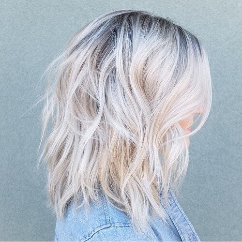 Platinum Shag Hairstyles