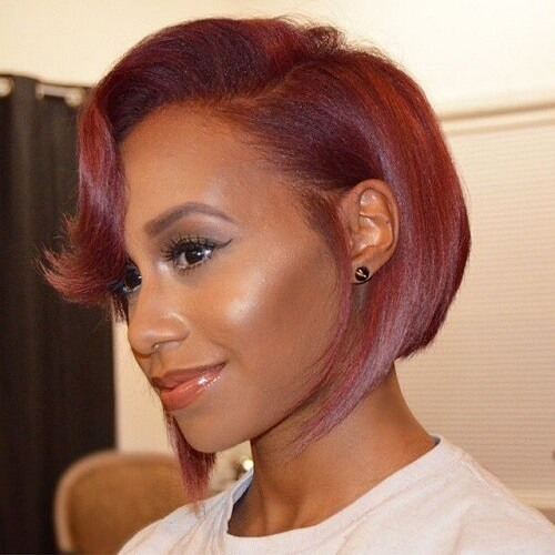 Red Bob Hairstyles for Black Women
