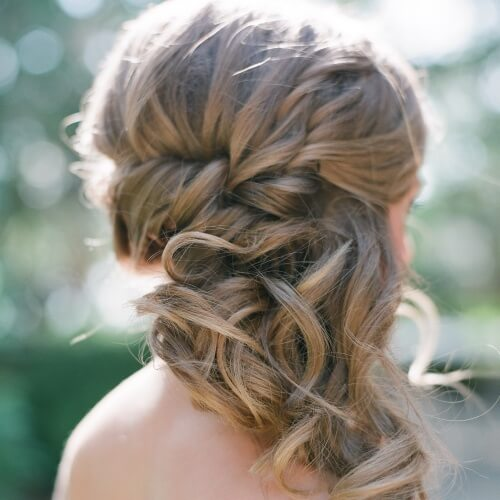 Side Swept Updo Wedding Hairstyles