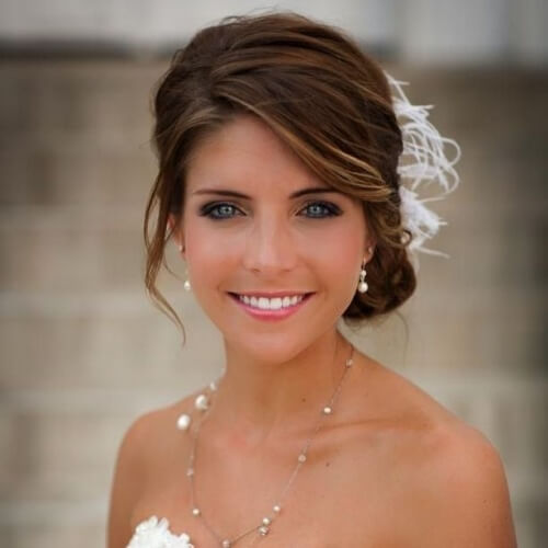 Side Updo for Wedding
