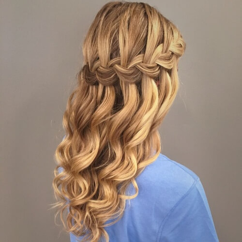 Waterfall Braid Half Updos