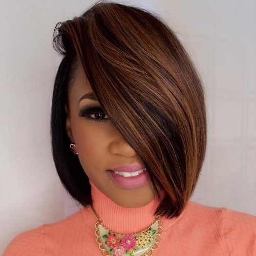 50 sensational bob hairstyles for black women hair motive hair weave bob hairstyles with side part urmus Choice Image