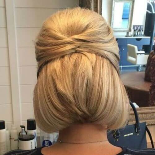 Wedding Half Updos for Short Hair
