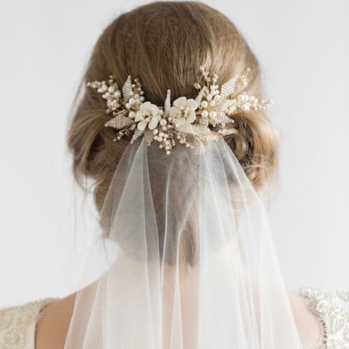 """Wedding Hair Up With Veil: 50 Updo Hairstyles For Weddings And The Perfect """"I Do"""