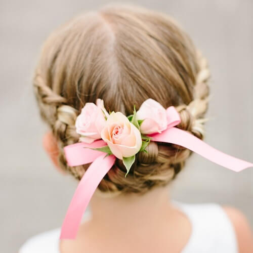Wedding Updos for Little Girls