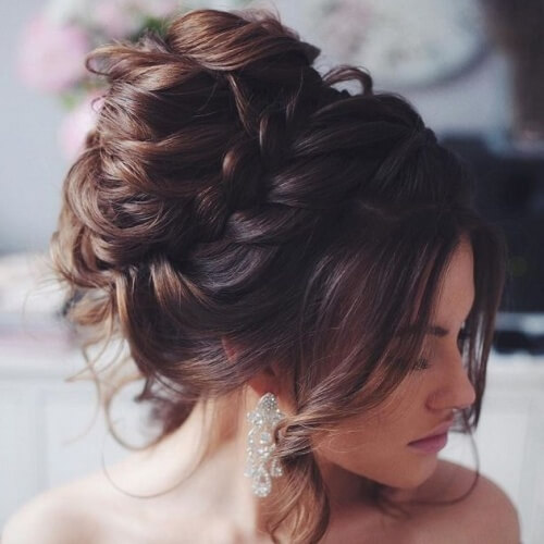 Wedding Updos with Braids