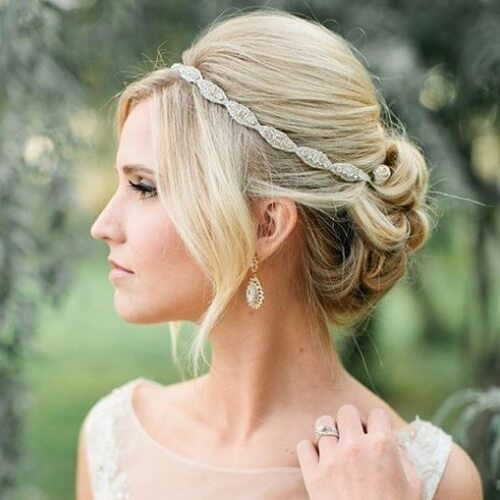 Wedding Updos with Headband