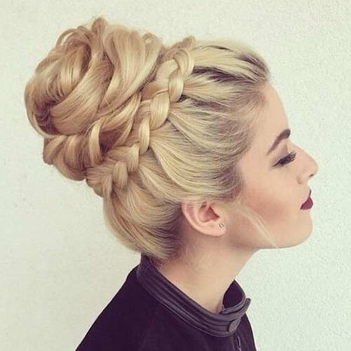 Braided Crown Bun