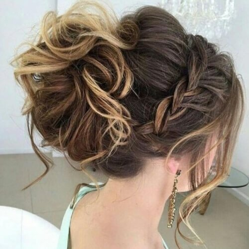 Braided Crown Updo