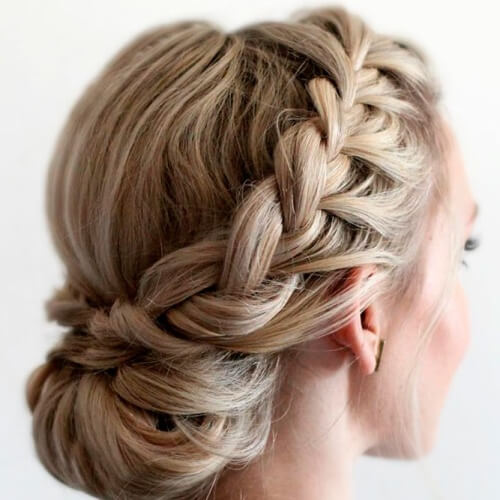 Braided Crown with Chignon