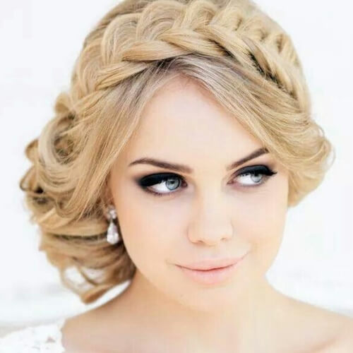 Braided Crown with Side Updo
