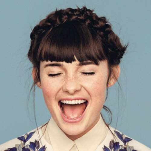 Crown Braid with Bangs